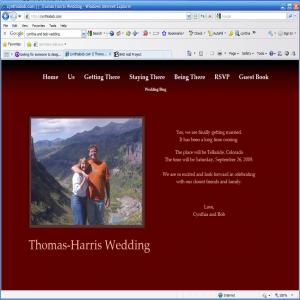 My Wedding Site