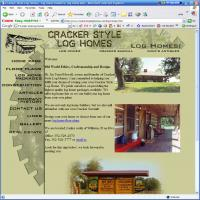 Cracker Style Log Homes Web Site